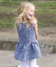 Another great find on #zulily! Blue Sleeveless Jumper - Toddler & Girls by Sweet Charlotte #zulilyfinds