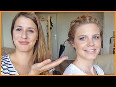 LA couronne Valentino   ♡ ✏ Coiffure Couronne Tressée+Maquillage pour la rentrée! ♡ ✏ - YouTube