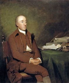 James Hutton (1726 - 1797), Geologist, 1776, Sir Henry Raeburn  Hutton is considered the founder of modern geology. His 'Theory of the Earth', (presented as a paper to the Royal Society of Edinburgh in 1785) showed that the continents are gradually worn away over vast stretches of time to form new continents on the sea floor and that there was 'no vestige of a beginning - no prospect of an end' to the physical history of the earth. Manuscript on table is probably Hutton's 'Theory of the…