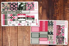 Camo Girlboss Mini Happy Planner Stickers Army Planner