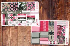Camo Girlboss Mini Happy Planner Stickers Army Planner