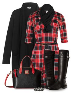 Red and Black by mcclungkristina on Polyvore featuring polyvore, fashion, style, Splendid, Aerosoles, Dooney & Bourke, claire's and clothing
