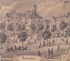 Ballonplatz, Darmstadt, um 1884