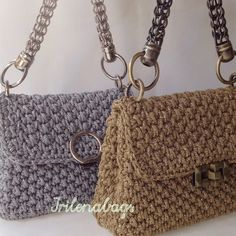 Crochet Clutch, Crochet Handbags, Crochet Bags, Free Crochet, Knit Crochet, Basket Bag, Handmade Bags, Purses And Bags, Dior