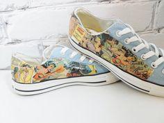 Women's Wonder Woman Comic Book Custom Sneakers. Geeky Cool Sneaks for Nerdy Cool Girls. on Etsy, $105.40 AUD