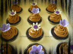 Daisy and blossoms cupcakes