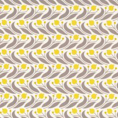 Swaying Floral | Mustard from Grey Abbey by Elizabeth Olwen for Cloud9 Fabrics