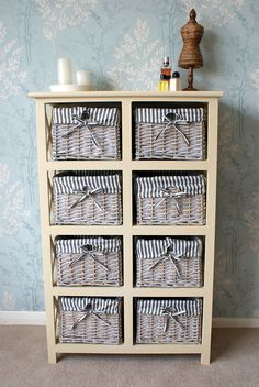 Camber 5 Drawer Storage Chest Rattan Wicker Basket Drawers