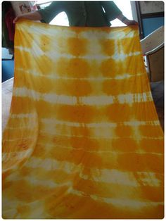 Turmeric tie dye with good info on dying fabrics. Use vinegar to set veggie dyes, salt to set berry dyes