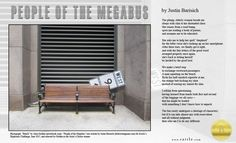 """""""People of the Megabus"""" by Justin Barisich   Rattle's Ekphrastic Challenge, June 2015, Artist's Choice Winner http://www.rattle.com/poetry/people-of-the-megabus-by-justin-barisich/    Photo by Alisa Golden  http://neverbook.com/"""