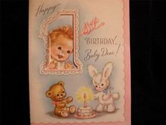 VINTAGE-CUTE-AS-A-BUTTON-MARJORIE-COOPER-BIRTHDAY-GREETING-CARD