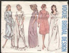 Vogue 2448 Vintage 1960s Special Bridal Design Wedding Dress Pattern B31
