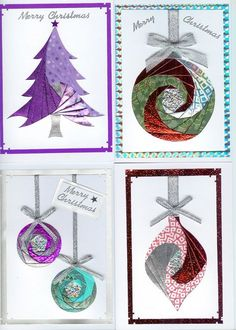 Christmas iris folds- from Mandy's Stampin Spot: