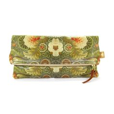 Leather Fold-over Clutch Bag - Floral Embroidery – Tovi Sorga