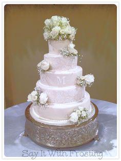 Pensacola Custom Wedding Cakes 5 Tier Cake For An Atmore AL