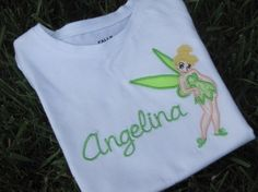 Personalized Tinkerbell Shirt or Onesie by bloomnbows on Etsy, $26.00...many more on site