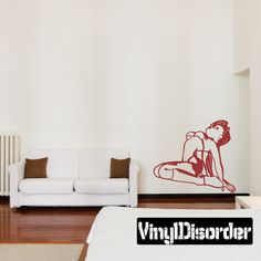 Pin Up Girl Stripper Wall Decal - Vinyl Decal - Car Decal - 011