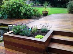 Building your own DIY deck shouldn't be a daunting idea. We'll show you exactly . Building your own DIY deck shouldn't be a daunting idea. We'll show you exactly how to build a simple deck without spending a ton of money Small Deck Designs, Patio Deck Designs, Patio Design, Diy Garden, Herb Garden, Garden Boxes, Backyard Patio, Backyard Landscaping, Small Backyard Decks