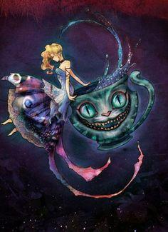 Cheshire cat, alice, alice in wonderland, cat - inspiring picture on Favim.com