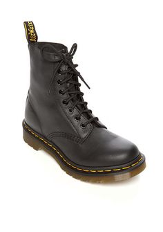 Simple, low-key factory footwear was highly appealing in the early 1960s and it is this fact that provides the style inspiration for the Pascal in a soft and fine grained Nappa leather. With an edgy, bold look that can span the seasons, this 8-eye boot is the ultimate example of youth culture championing working-class style.