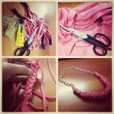 #DIY straight knot necklace ❤ thanking youtube for the tutorial