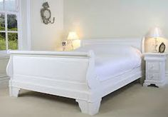 Painted Sleigh Bed Beds White Super King Size