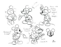 Model Sheets for Mickey Mouse