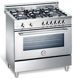 Bertazzoni X365GGV 36 Inch Pro-Style Gas Range with 5 Sealed Burners, 3.6 cu. ft. European Convection Oven, Manual Clean and Storage Drawer