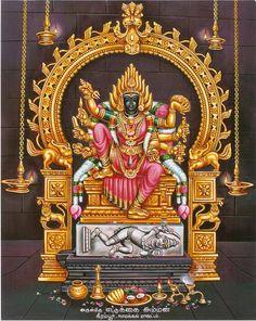 First Mangalavara in Ashadha masam. Shiva Art, Hindu Art, Lord Murugan Wallpapers, Shiva Linga, Shiva Shakti, Lord Ganesha Paintings, Kali Goddess, Mother Goddess, Lord Shiva Family
