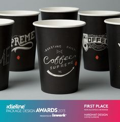 Coffee Supreme Packaging Take-away cup design & illustration Coffee Packaging, Brand Packaging, Design Packaging, Coffee Branding, Bakery Branding, Product Packaging, Label Design, Paper Cup Design, Custom Coffee Cups