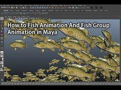 How to Make Fish Animation And Fish Group Animation in Maya(마야에서 물고기떼 애니메이션 하기) - YouTube