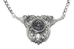 Memento Mori Bijoux Collier argent par CatherinetteRings sur Etsy