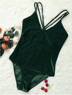 GET $50 NOW | Join RoseGal: Get YOUR $50 NOW!http://m.rosegal.com/one-pieces/double-cross-straps-velvet-backless-1065691.html?seid=hci4q1lr5pti2c32f0hss5or26rg1065691