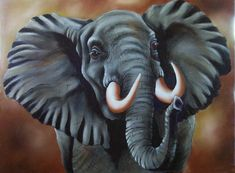 bob ross elephant painting Wildlife Paintings, Wildlife Art, Animal Paintings, Animal Drawings, Elephant Drawings, 4 Canvas Paintings, Bob Ross Paintings, The Joy Of Painting, Painting On Wood