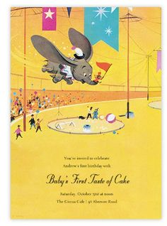 Vintage Dumbo ecard party invitations through Paperless Post