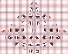 κεντημα how to dress like a french woman - Woman Dresses Crochet Cross, Filet Crochet, Diy Crochet, Embroidery Patterns, Cross Stitch Patterns, Crochet Patterns, Cross Stitching, Cross Stitch Embroidery, Faith Crafts