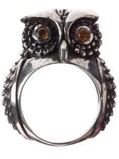 Ugo Cacciatori - Owl Stone Ring #accessories