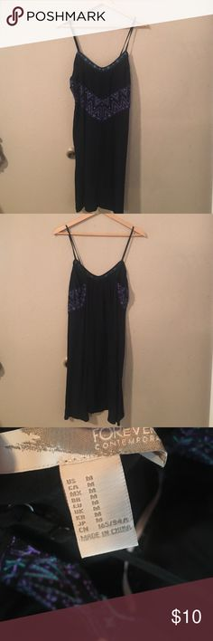 Casual sun dress tribal inspired sundress. Runs big. Forever 21 Dresses Mini