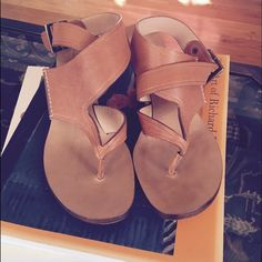 Chloe leather wedge heels Never worn leather wedged sandals by Chloe. The gorgeous tan color will match any outfit! Perfect for a vacation getaway. Features an asymmetric thong front design and a adjustable ankle strap. Marked size 39.5 or US 9.5. Sorry, no box or dust bag included! Chloe Shoes Wedges
