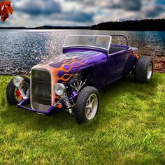 I saw this car at a Walmart parking lot in the grassy area. I changed the background to a lake. Looks better! #Love it! #LOVE My Facebook page: https://www.facebook.com/IncrediblePix