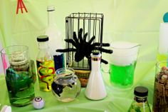 A detailed outline, and inspiration, for creating memorable and fun themed parties! Mad Science Party, Mad Scientist Party, Science Week, Party Themes, Themed Parties, Party Ideas, Halloween Supplies, Boy Birthday, Birthday Ideas