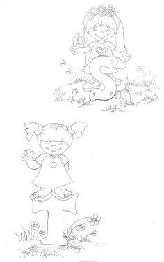 Pintura em Tecido Passo a Passo: RISCOS DE ALFABETOS para pintura em toalhas infantis