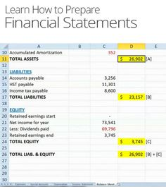 how to prepare financial statements example pdf