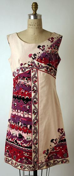 Dress  Emilio Pucci  (Italian, Florence 1914–1992)    Date:      1967  Culture:      Italian  Medium:      [no medium available]  Dimensions:      [no dimensions available]  Credit Line:      Gift of Mrs. Arthur A. Houghton Jr., 1970  Accession Number:      1970.160.14
