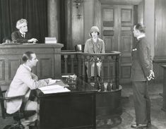 1920s courtroom scene