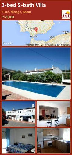 3-bed 2-bath Villa in Alora, Malaga, Spain ►€129,000 #PropertyForSaleInSpain