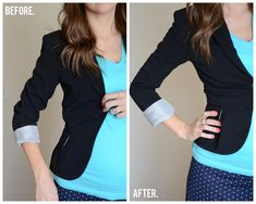 This tutorial came right on time. I was literally going to take a blazer to a tailor tomorrow but now I can take care of it myself!!!    Merricks Art: Blazer Refashion (Tutorial)