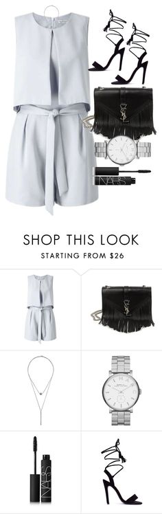 """""""Untitled #3905"""" by olivia-mr ❤ liked on Polyvore featuring Miss Selfridge, Yves Saint Laurent, SELECTED, Marc by Marc Jacobs, NARS Cosmetics, contestentry, laceupsandals and PVStyleInsiderContest"""