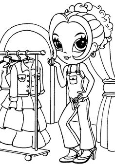 lisa frank coloring pages 2. Lisa Frank  Glamour Girl Coloring page Ashley Pogue pogue1306 on Pinterest