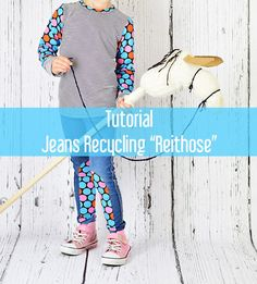 Tutorial Anleitung Jeans Recycling Ideen Reithose nähen kaputte Jeans